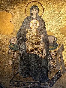 1-Мозаичное изображение Богородицы в апсиде