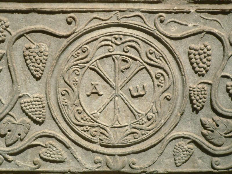 Sarcophage_de_Drausin_Монограмма имени Христа