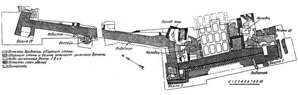 Тиритака.jpgплан раскопок южного участка оборонительной стены Тиритаки