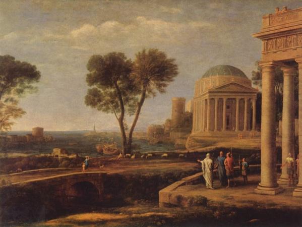 Эней на острове Делос (1672)