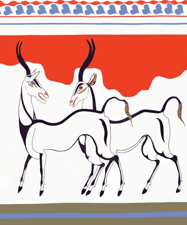 1-Minoan_Antelope_Fresco_Art