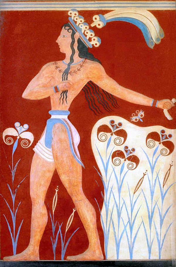 1-Minoan_Priest_King_Feathered_Prince_of_Lilies_Fresco_Art