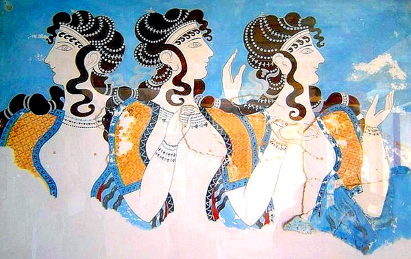 1-Minoan_Women_Ladies_in_Blue_Fresco_Art