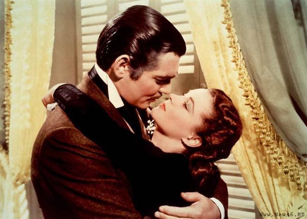 1939- Кларк Гейбл в роли Рета Баттлера Вивьен Ли - Скарлетт