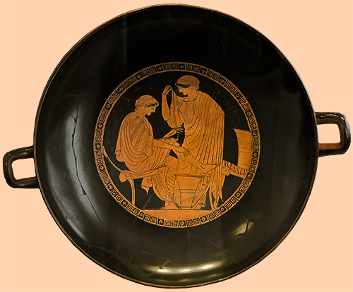 Attic red-figure kylix,Greek, 480-470 BCE-