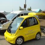 В Евпатории состоялась выставка электромобилей