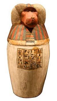 канапа с головой Хапи -Dieu-Hapi