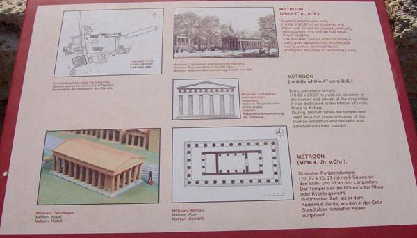 Храм Реи-Кибелы в Олимпии называется Метроон.