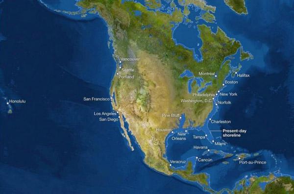 1уровень моря -Северная Америка