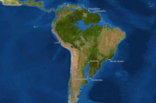 1уровень моря -латин.америка