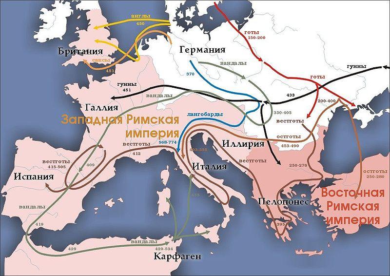 переселение народов 4-7вв. н.э.