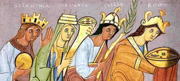Gifts-Sclavinia , Германия , Галлия и Рим -подарки импер. Оттону III