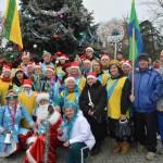 Рождественский заплыв 2014 г. в ледяной купели Евпатории.