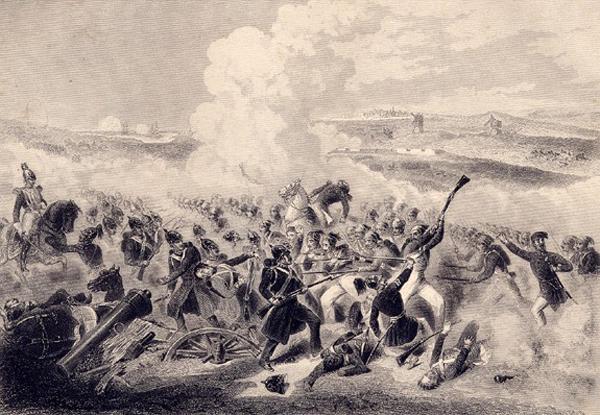 Атака турков-генерала-d'Allonville à la bataille d'Eupatoria-1855