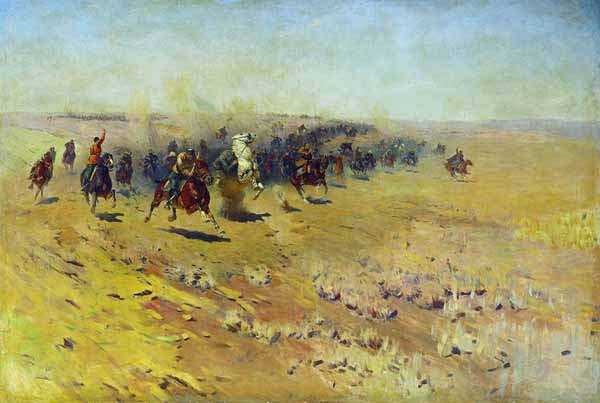Кавалерийская атака. 1927