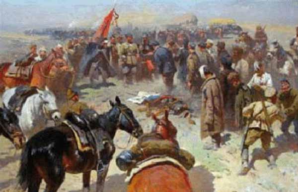 М. Греков. Разоружение деникинцев.
