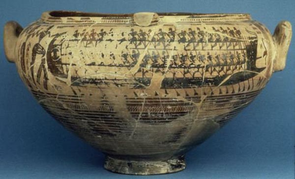 Триконтера на чернофигурной вазе VI в. до н.э.