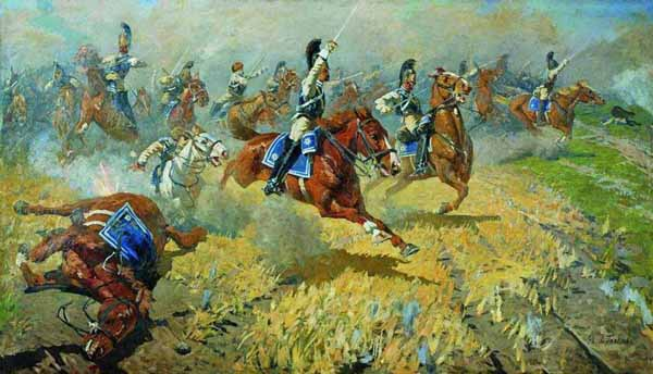 1911-Атака лейб-гвардии Кирасирского его величества полка в 1813 году