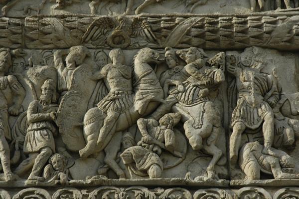 Arch-of-Galerius-битва армии Галерия на берегу реки