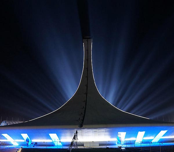 Sochi Olympic Park at Night - The Flame