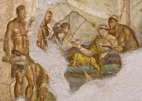 a banquet scene in Emperor Joseph II-1 century CE=