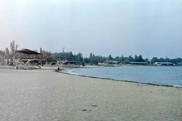 пляж в парке им.Фрунзе