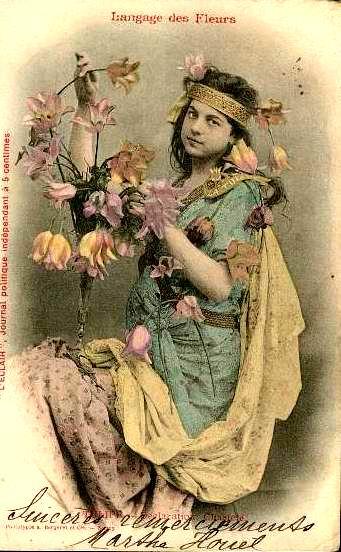 Язык цветов старинные открытки 5
