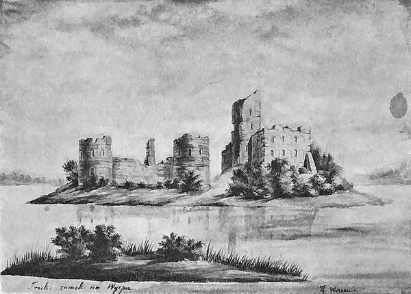 Руины островного Трокского замка-1877_Troki