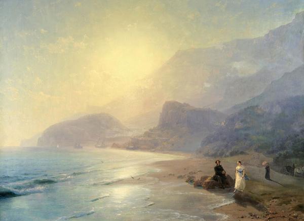 Айвазовский-1886-Александр-Пушкин-и-Мария-Раевская-у-моря-Гурзуф