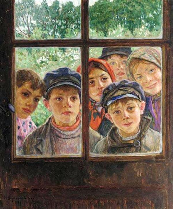 Дети в окне-Богданов-бельский