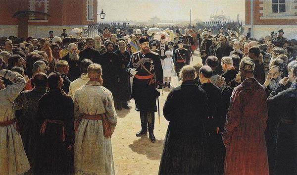 А-Прием волостных старшин Александром III -Repin