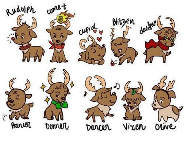 00-Рождественские олени