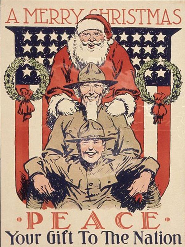 13- Санта в 1918 году - ралли за мир на Рождество