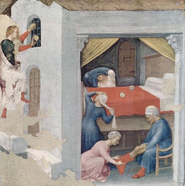«Приданое для трёх девиц», художник Джентиле да Фабриано, ок. 1425 года.