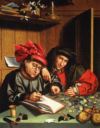 15-век-The Money Lenders.Marinus Claez