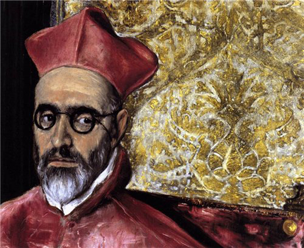 1600-El GRECO, -портрет кардинала