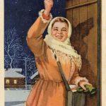 Послевоенные Новогодние открытки СССР