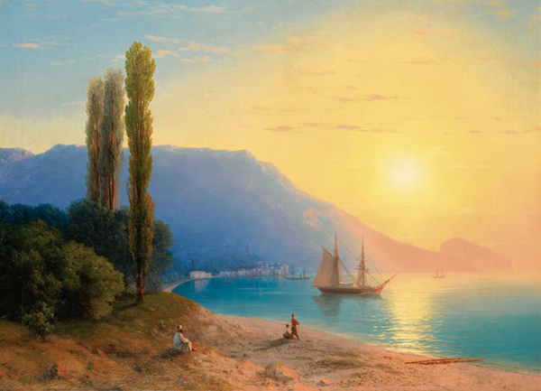 айвазовский-Восход над Ялтой. (масло, 1861