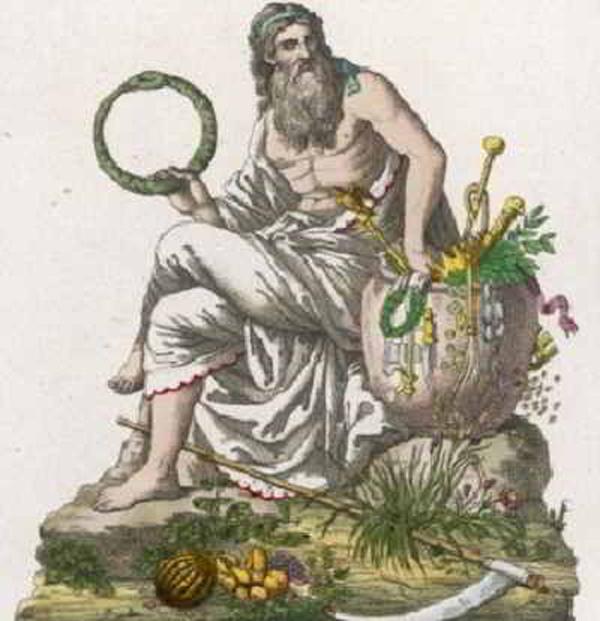 Символ Сатурна - Змея кусающая себя за хвост - замкнутый цикл жизни, круг Времени.