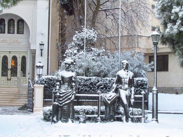 1-снег-Зимняя Ялта.---