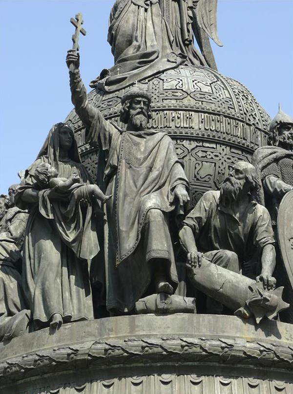 Памятник «Тысячелетия России». Композиция «Крещение Руси»