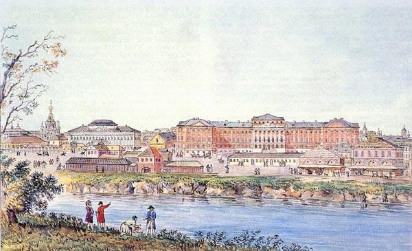 Московский университет. на Моховой -1790