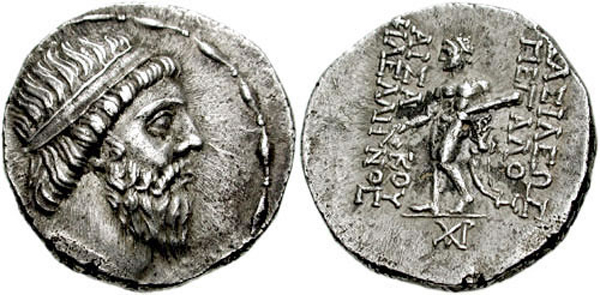Drachma of Mithridates I of Parthia,