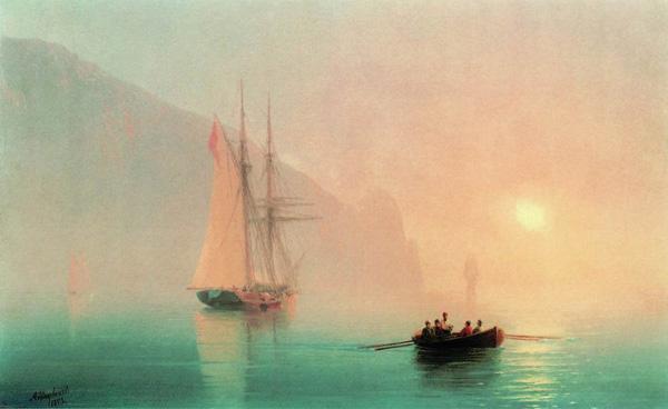 Аю-Даг в туманный день 1853
