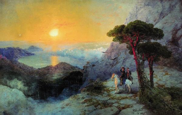 А.С.Пушкин на вершине Ай-Петри при восходе солнца 1899