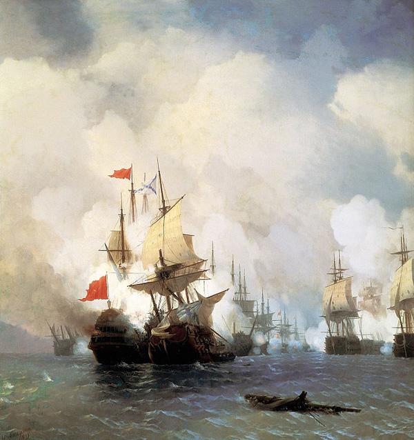 Бой в Хиосском проливе 24 июня 1770 г. ( 1848)