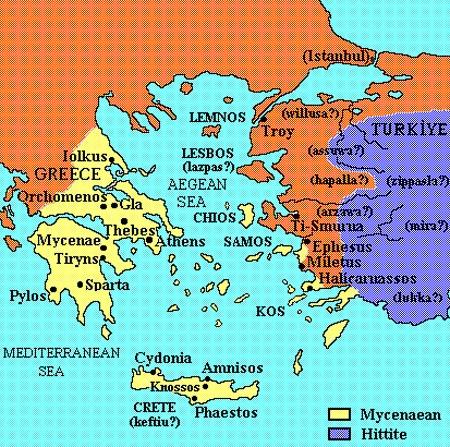 Троянс.война бронз. век-1200-1100 до н. э. микенцы против греков Илиона (Troy)