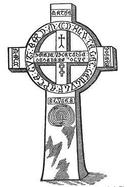 1- Датский рунический крест -12 век. Лабиринт