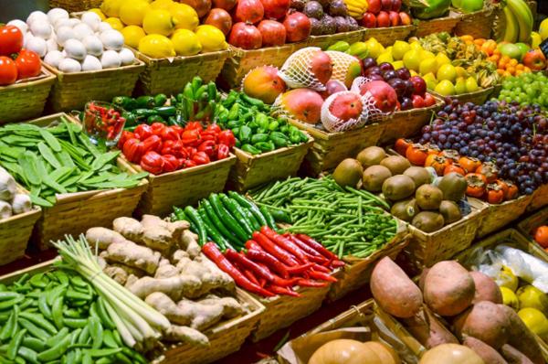 1-Яркие овощи и фрукты