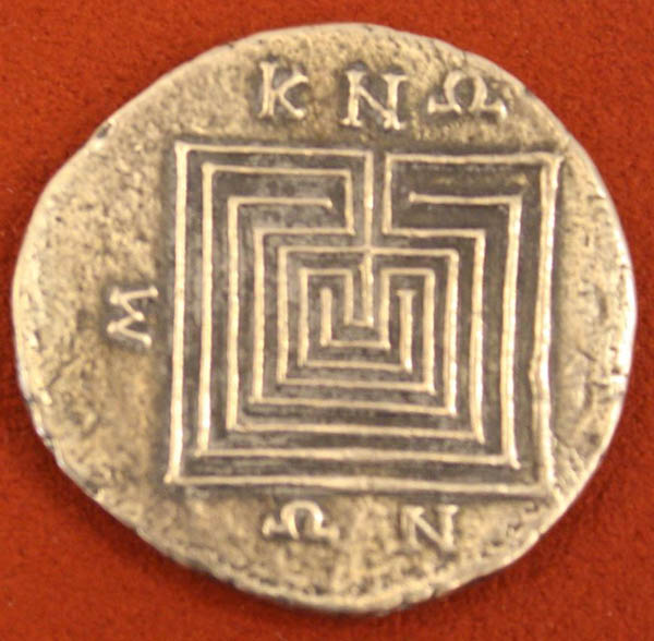 Knoss-Лабиринт, серебро Тетрадрахма, Кносский, 1-й век до н.э..
